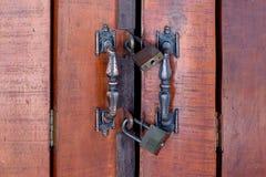 drzwiowy wewnętrzny drewniany Zdjęcie Stock