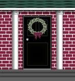 drzwiowy wianek ilustracja wektor