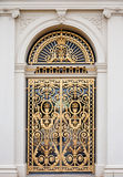 drzwiowy złoty ozdobny obrazy stock