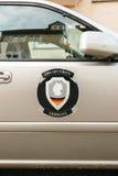 DS安全在汽车的德国略写法 库存照片