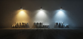 3Ds κλίμακα θερμοκρασίας χρώματος Στοκ φωτογραφία με δικαίωμα ελεύθερης χρήσης