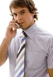 DS #9. A young executive on a mobile phone Royalty Free Stock Photo