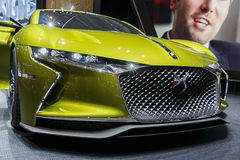 DS Automobiles E Tense Electric Car. The new DS Automobiles E-Tense, an electric powered performance car. Taken at 86th Geneva International Motor Show 2016 Stock Photos
