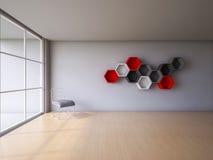 3Ds übertragen Innenraum Lizenzfreies Stockbild
