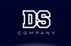 DS D S alphabet letter logo icon company Stock Photos