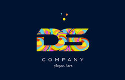 Ds d s colorful alphabet letter logo icon template vector Royalty Free Stock Image