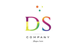 Ds d s  creative rainbow colors alphabet letter logo icon Stock Photo