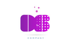 Ds d s pink dots letter logo alphabet icon Royalty Free Stock Image