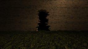 3Ds dziura na ściana z cegieł Zdjęcia Stock