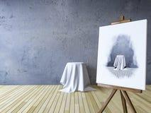 3Ds ha reso l'immagine dei treppiedi per dipingere Immagine Stock Libera da Diritti
