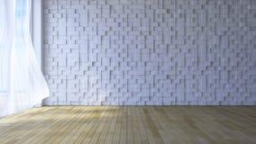 3ds ha reso l'immagine della stanza della spiaggia Fotografia Stock Libera da Diritti