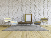 3Ds interior-Living room Royalty Free Stock Images