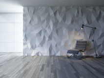 3Ds interior polygon wall Royalty Free Stock Photo