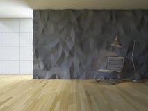 3Ds interior polygon wall Stock Photos