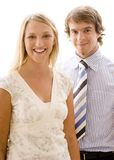 DS LS #1. Two young business people Royalty Free Stock Images