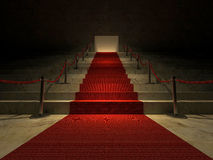 3ds red carpet Royalty Free Stock Image