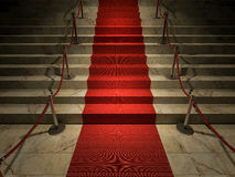 3ds red carpet. 3ds rendered image of the red carpet on marble stair Royalty Free Stock Photos