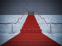 3ds red carpet. 3ds rendered image of the red carpet on marble stair Royalty Free Stock Image