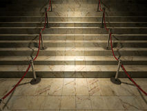 3ds red stair. 3ds rendered image of the marble stair Stock Image