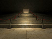 3ds red stair. 3ds rendered image of the marble stair Stock Photo