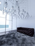 3ds rendered high ceiling living room Royalty Free Stock Photography