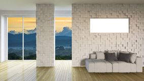 3ds rendering interior living room Royalty Free Stock Image