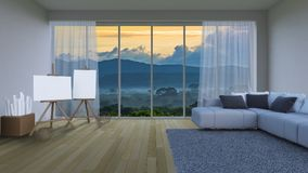 3ds rendering interior living room Royalty Free Stock Photography