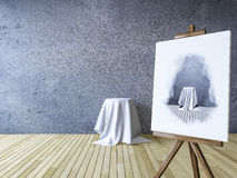 3Ds rendeu a imagem dos tripés para pintar Imagem de Stock Royalty Free
