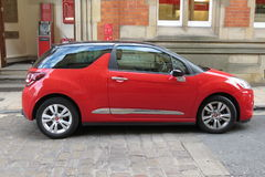DS3 rouge de Citroen Photo stock