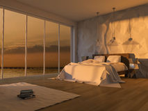 3ds seaside room Royalty Free Stock Image