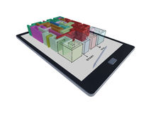 3Ds tablet with maze game Royalty Free Stock Photo