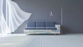 3ds wewnętrzny żywy pokój Obrazy Stock