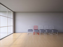 3Ds wire chair. 3Ds rendered image of red and white color steel wire chair Royalty Free Stock Image