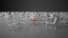 3Ds wire chair Royalty Free Stock Images
