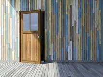3Ds wooden door Stock Image