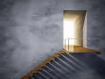3ds wooden stair Royalty Free Stock Photography
