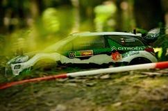 DS3 WRC de Citroen de voiture de rassemblement de Rc Images libres de droits
