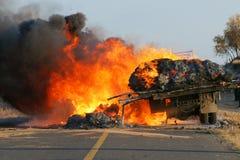 Désastre d'incendie Images stock