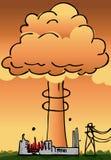 Désastre de centrale nucléaire Images libres de droits