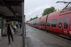DSB LOKALNY pociąg Zdjęcie Stock