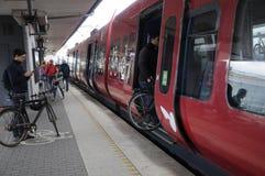 DSB TRAIN PASSENGERS Stock Image