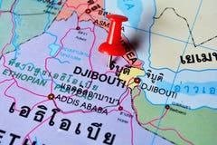 Dschibuti-Karte lizenzfreies stockbild