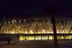 Dschidda, Saudi-Arabien -16 im Oktober 2018, König Abdullah trägt Stadtstadion ist Haupt zum des Saudi-Arabiens Fußball zur Schau stockfotos