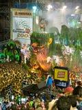 Dschungel-Hin- und Herbewegung, Rio-Karneval 2008. Stockfotos