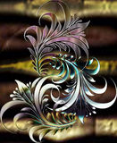 Dschungel motif_black Perle Lizenzfreies Stockbild