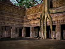 Dschungel-Ruinen Lizenzfreie Stockfotos