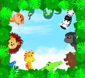 Dschungel-Tiere Stockfotografie