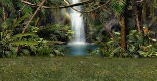 Dschungel-Wasserfall Lizenzfreie Stockfotos