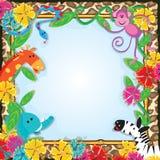 Dschungel-Zoo-Party-Einladung Lizenzfreies Stockfoto