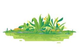 Dschungelbetriebsgrüne Zusammensetzung vektor abbildung